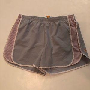 Lucy Athletic Shorts Gray Purple Xsmall